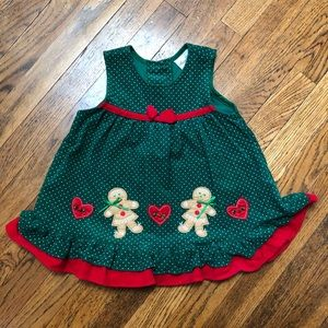 Girls Rare Editions Green Holiday Dress Size 2T